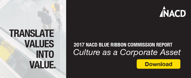 2017 NACD Blue Ribbon Commission Report: Culture as a Corporate Asset